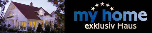 banner, logo, my home ,exklusiv haus