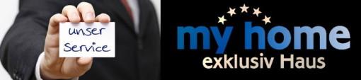 unser service, my home, logo