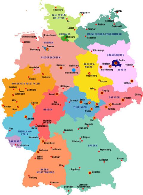 deutschlandkarte, landkarte